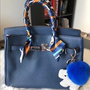 Handbags - LittleBunnyStores Blue Nuit BK 25 Leather Bag